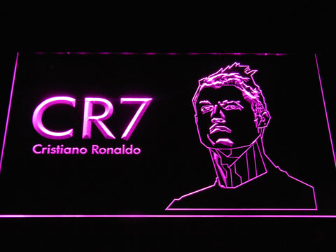 Image of Real Madrid CF Cristiano Ronaldo LED Neon Sign - Purple - SafeSpecial