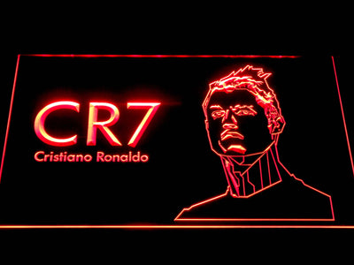 Real Madrid CF Cristiano Ronaldo LED Neon Sign - Red - SafeSpecial