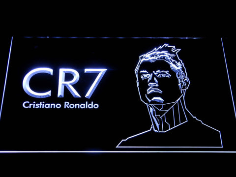 Image of Real Madrid CF Cristiano Ronaldo LED Neon Sign - White - SafeSpecial