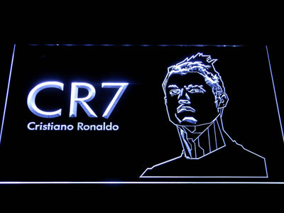 Real Madrid CF Cristiano Ronaldo LED Neon Sign - White - SafeSpecial