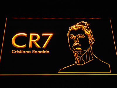 Real Madrid CF Cristiano Ronaldo LED Neon Sign - Yellow - SafeSpecial