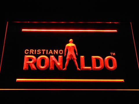 Image of Real Madrid CF Cristiano Ronaldo Silhouette LED Neon Sign - Orange - SafeSpecial
