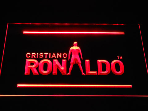 Image of Real Madrid CF Cristiano Ronaldo Silhouette LED Neon Sign - Red - SafeSpecial