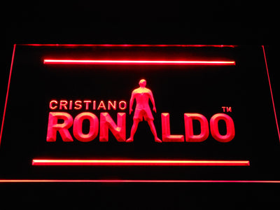 Real Madrid CF Cristiano Ronaldo Silhouette LED Neon Sign - Red - SafeSpecial