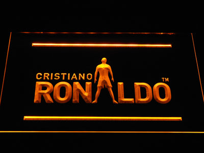 Real Madrid CF Cristiano Ronaldo Silhouette LED Neon Sign - Yellow - SafeSpecial