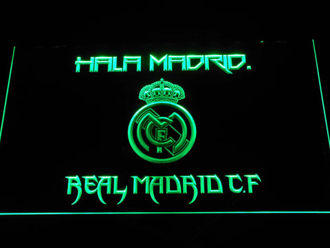 Real Madrid CF LED Neon Sign - Green - SafeSpecial