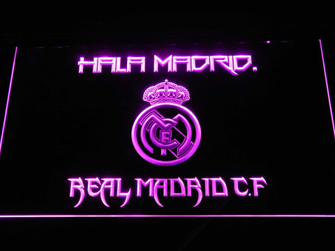 Real Madrid CF LED Neon Sign - Purple - SafeSpecial