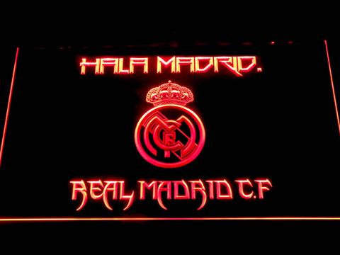 Real Madrid CF LED Neon Sign - Red - SafeSpecial