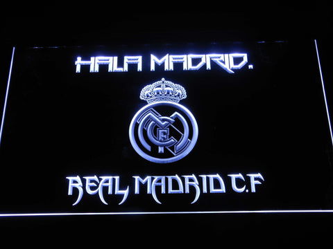 Real Madrid CF LED Neon Sign - White - SafeSpecial