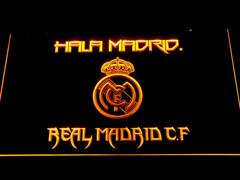 Real Madrid CF LED Neon Sign - Yellow - SafeSpecial