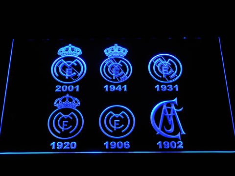Image of Real Madrid CF Logos LED Neon Sign - Blue - SafeSpecial