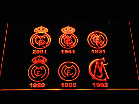 Image of Real Madrid CF Logos LED Neon Sign - Orange - SafeSpecial