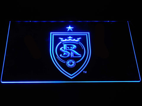 Image of Real Salt Lake LED Neon Sign - Blue - SafeSpecial