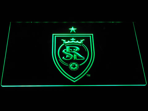 Image of Real Salt Lake LED Neon Sign - Green - SafeSpecial