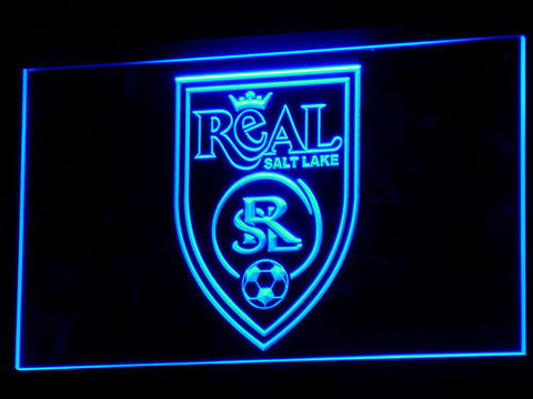 Real Salt Lake LED Neon Sign - Legacy Edition - Blue - SafeSpecial