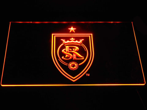 Image of Real Salt Lake LED Neon Sign - Orange - SafeSpecial
