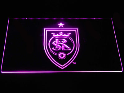 Real Salt Lake LED Neon Sign - Purple - SafeSpecial