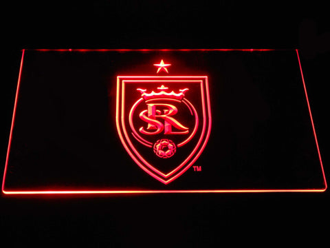 Image of Real Salt Lake LED Neon Sign - Red - SafeSpecial