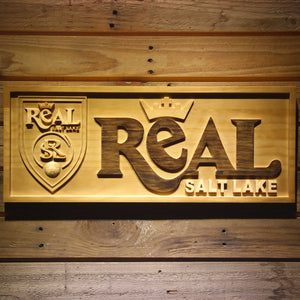 Real Salt Lake Wooden Sign - Legacy Edition - Small - SafeSpecial
