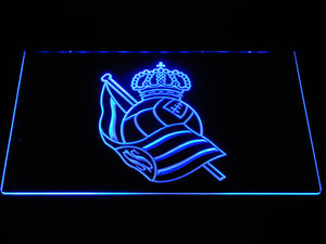Real Sociedad LED Neon Sign - Blue - SafeSpecial