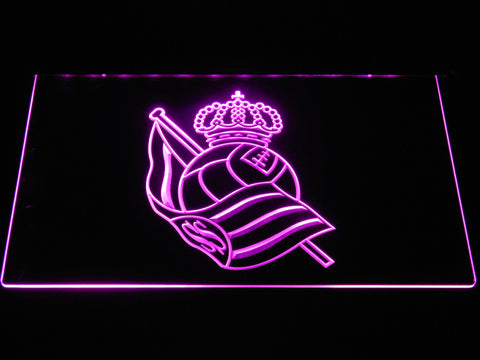Image of Real Sociedad LED Neon Sign - Purple - SafeSpecial