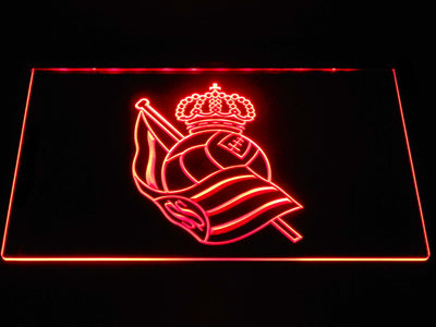 Real Sociedad LED Neon Sign - Red - SafeSpecial