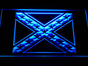 Rebel Confederate Flag LED Neon Sign - Blue - SafeSpecial