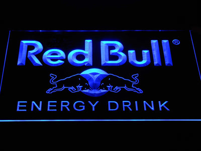 Red Bull Energy Drink LED Neon Sign - Blue - SafeSpecial