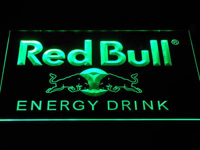Red Bull Energy Drink LED Neon Sign - Green - SafeSpecial