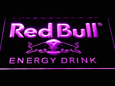 Red Bull Energy Drink LED Neon Sign - Purple - SafeSpecial