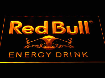 Red Bull Energy Drink LED Neon Sign - Yellow - SafeSpecial