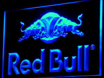 Red Bull LED Neon Sign - Blue - SafeSpecial