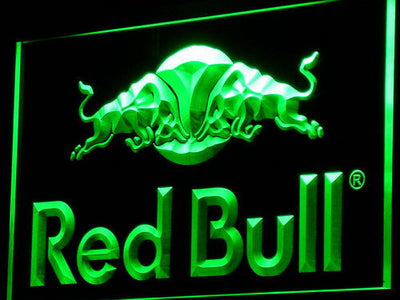 Red Bull LED Neon Sign - Green - SafeSpecial