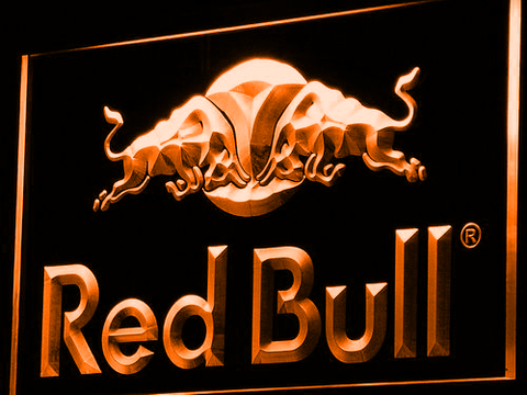 Image of Red Bull LED Neon Sign - Orange - SafeSpecial