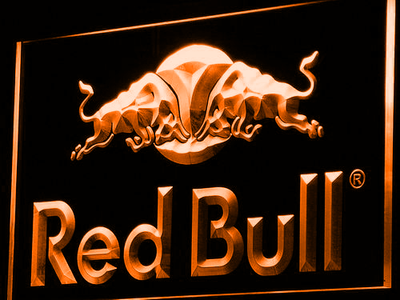 Red Bull LED Neon Sign - Orange - SafeSpecial