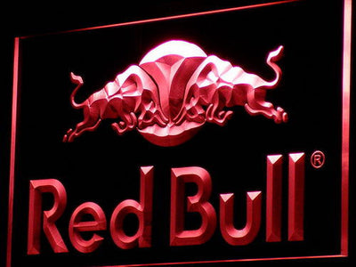 Red Bull LED Neon Sign - Red - SafeSpecial