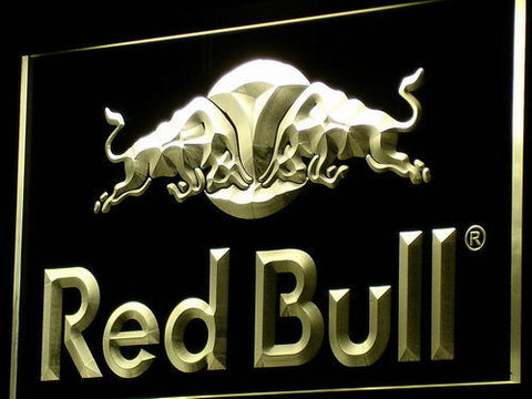 Image of Red Bull LED Neon Sign - Yellow - SafeSpecial