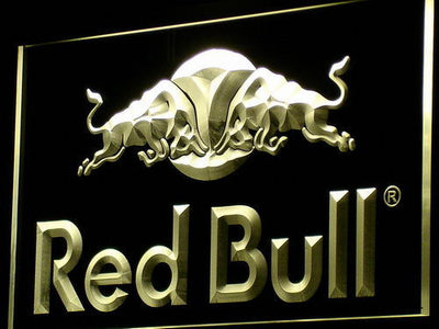 Red Bull LED Neon Sign - Yellow - SafeSpecial