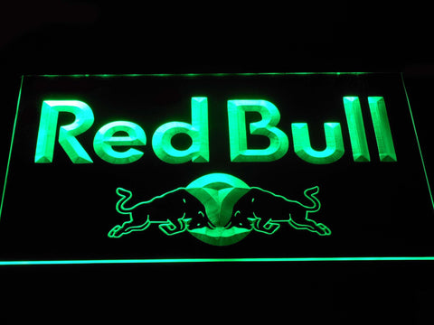 Image of Red Bull Wordmark LED Neon Sign - Green - SafeSpecial