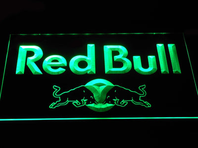 Red Bull Wordmark LED Neon Sign - Green - SafeSpecial