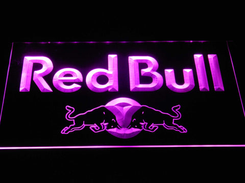 Image of Red Bull Wordmark LED Neon Sign - Purple - SafeSpecial