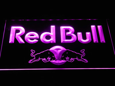Red Bull Wordmark LED Neon Sign - Purple - SafeSpecial