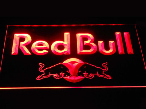 Image of Red Bull Wordmark LED Neon Sign - Red - SafeSpecial