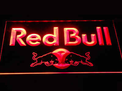 Red Bull Wordmark LED Neon Sign - Red - SafeSpecial