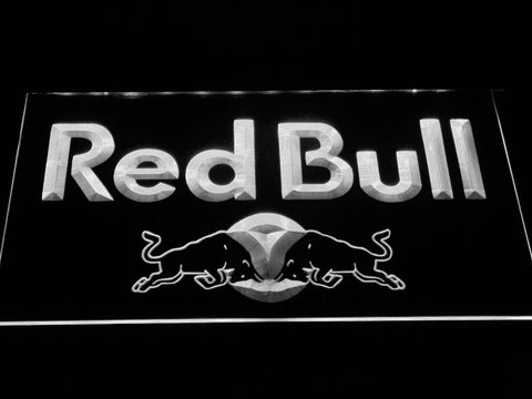 Image of Red Bull Wordmark LED Neon Sign - White - SafeSpecial