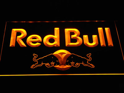 Red Bull Wordmark LED Neon Sign - Yellow - SafeSpecial