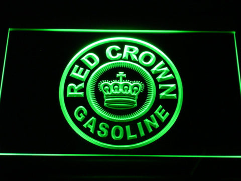 Image of Red Crown Gasoline LED Neon Sign - Green - SafeSpecial