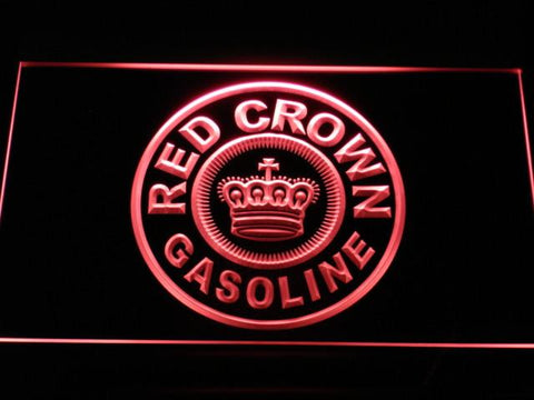 Image of Red Crown Gasoline LED Neon Sign - Red - SafeSpecial