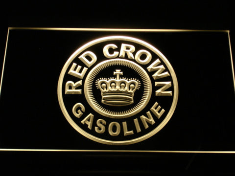 Image of Red Crown Gasoline LED Neon Sign - Yellow - SafeSpecial