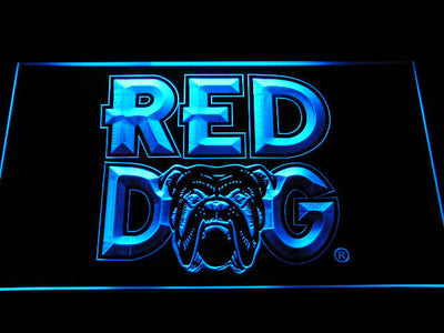 Red Dog LED Neon Sign - Blue - SafeSpecial